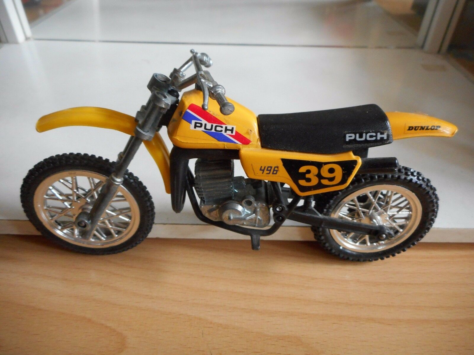Polistil Motorcross Puch 496 in Yellow on 1:12