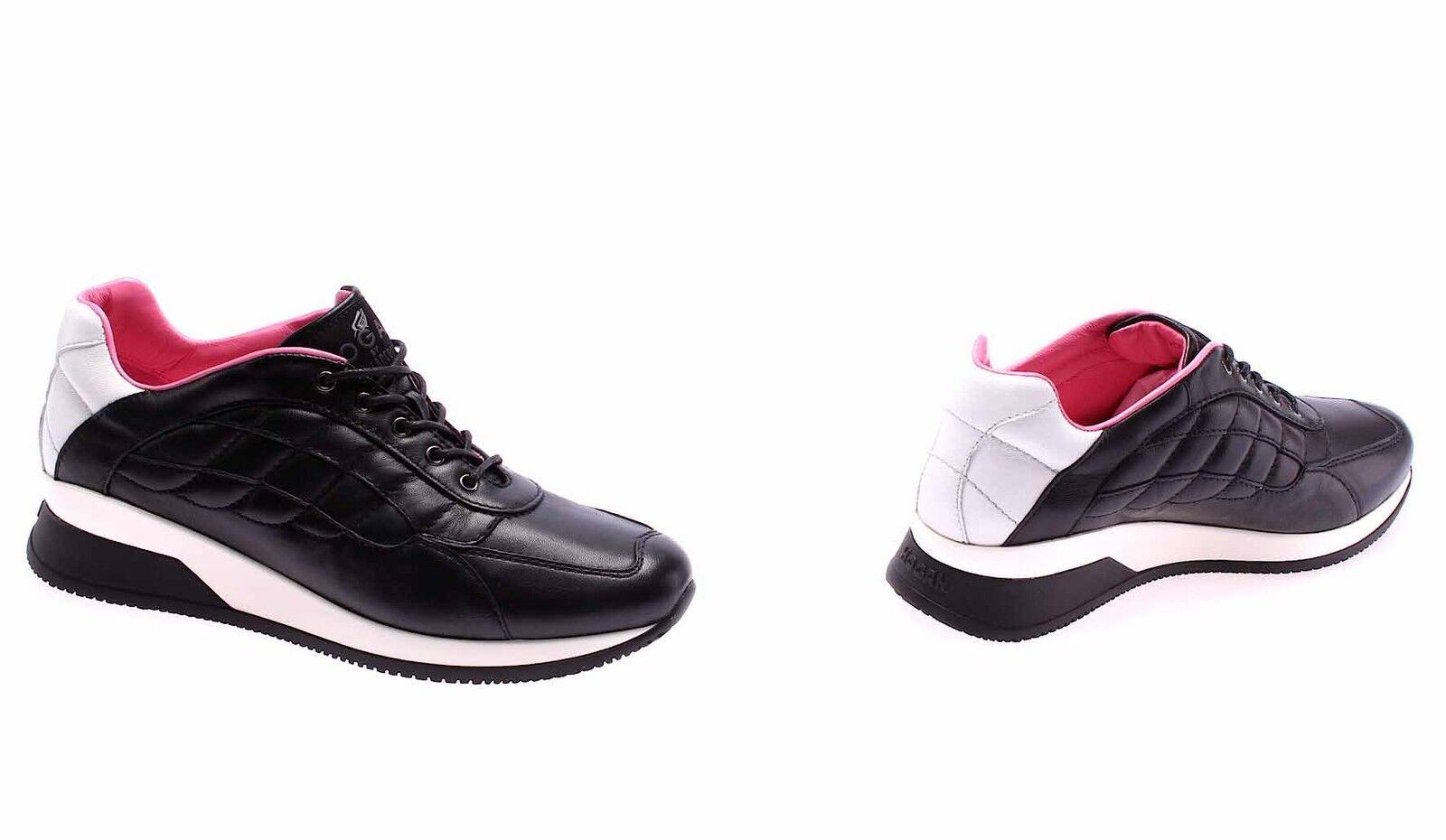 Damen Schuhe Schwarz Sneakers HOGAN BY KARL LAGERFELD Elective Schwarz Schuhe Luxus Made  69c9e2