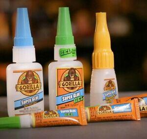 Gorilla-Super-Glue-Gel-Liquid-Brush-Nozzle-Tube-Strong-Superglue-Impact-Adhesive