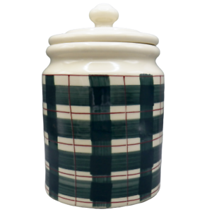 Hartstone-Buffalo-Check-Green-Plaid-Canister-Cookie-Jar-Container-Farmhouse-5-lb