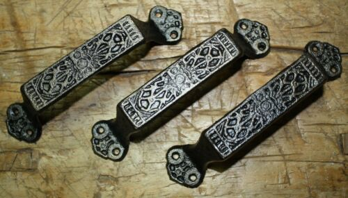 6 Large Cast Iron Antique Style FANCY Barn Handle Gate Pull Shed Door Handles #7