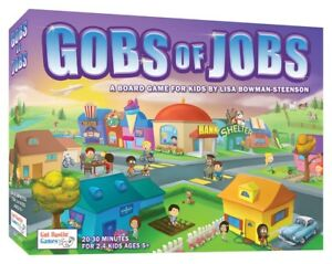 Gobs of Jobs Board Game for Kids! AND Oh Gnome You Don't! by Gut Bustin' Games