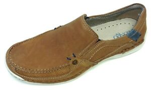 Details zu Longo Herren Schuhe Slipper Mokassin Halbschuh Sneaker 1009163 3 Leder cognac