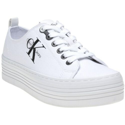 White Up Canvas New Jeans Calvin Womens Trainers Zolah Klein Lace BqIa1