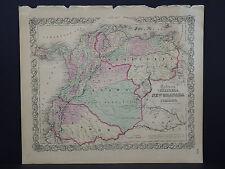 Colton's Maps, 1855, Authentic #12 Venezuela, New Granada, and Ecuador