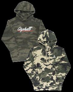 Asphalt Yacht Club Script Camo Sweat à Capuche Sweat-shirt Camouflage Polaire Pull-over homme
