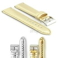 Strapsco Metallic Watch Strap Mens Womens Band In Gold Or Silver