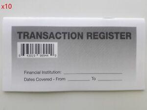 10 - Checkbook Transaction Registers - 2019-21 Calendar - Check Book Bank