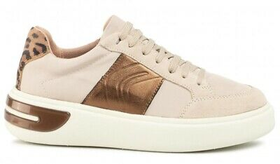 GEOX RESPIRA ZOSMA D828LC scarpe donna sneakers pelle camoscio pelliccia zeppa   eBay