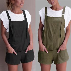 eef642317fb ZANZEA 8-24 Women Plus Size Mini Short Shorts Jumpsuit Playsuit ...