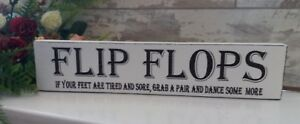 Wooden-wedding-flip-flop-free-standing-sign-shabby-vintage-chic-top-table-plaque