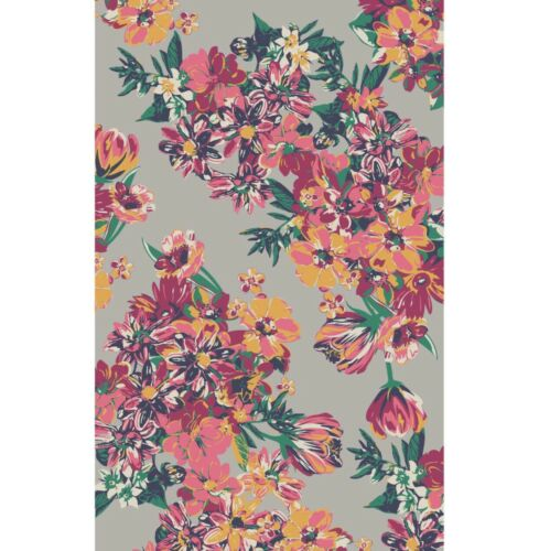 Powder Summer Floral Scarf With Free Gift Bag