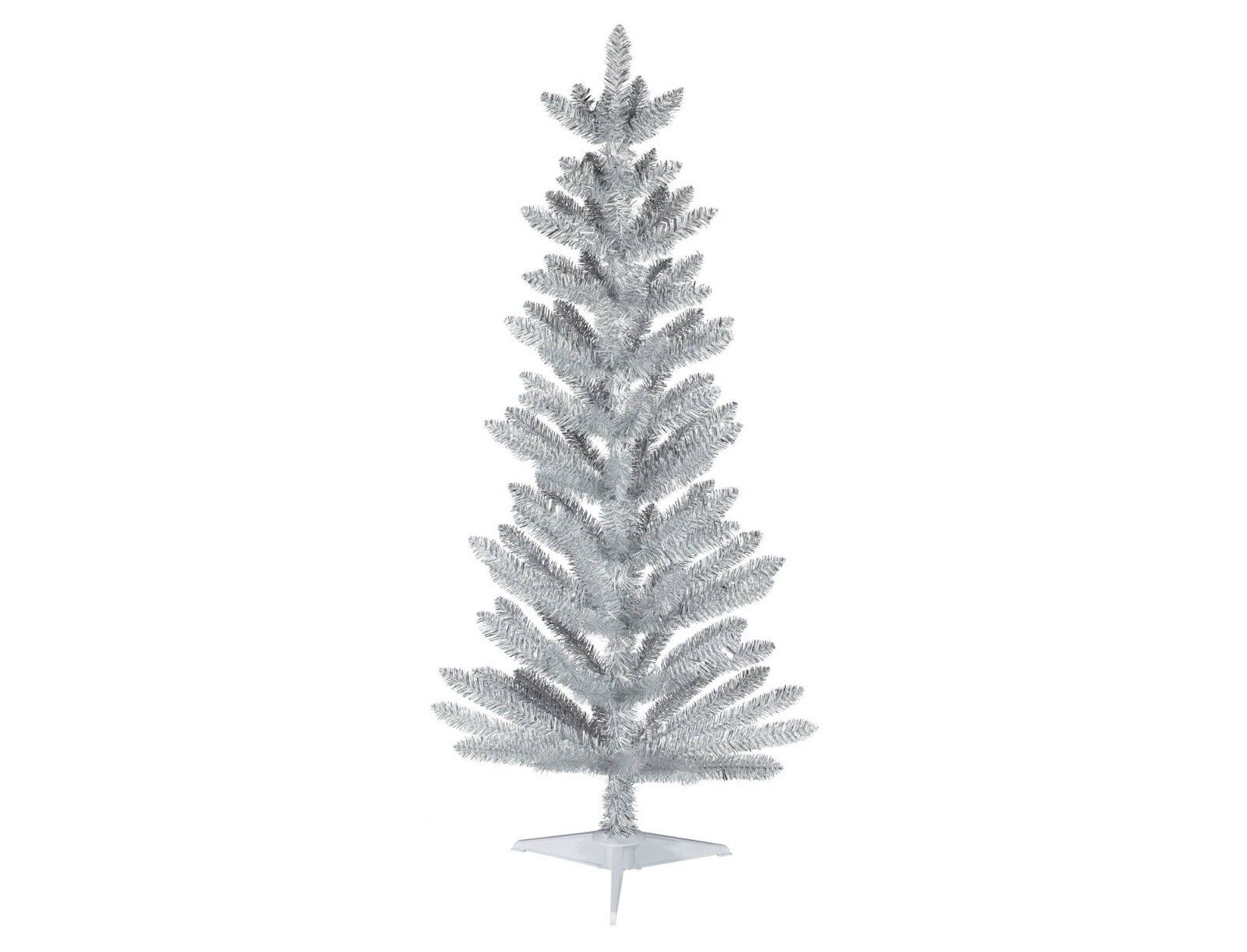 New ! 4.5 ft Unlit Slim Artificial Christmas Tree White/Silver Alberta