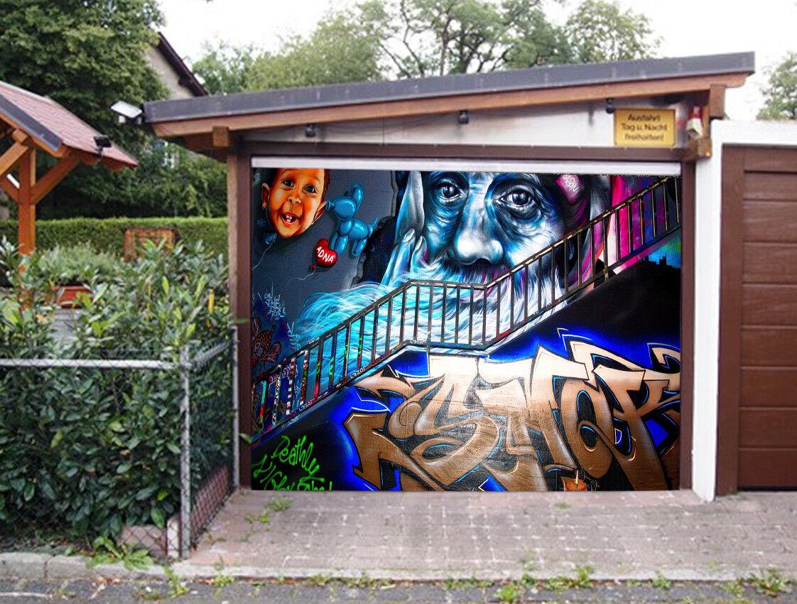 3D Grandpa Baby 5 Garage Door Murals Wall Print Decal Wall AJ WALLPAPER AU Lemon