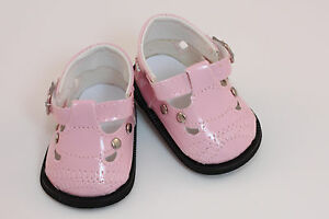 048448d8e3a7 Pink Mary Janes with Metal Studs Shoes made for 18