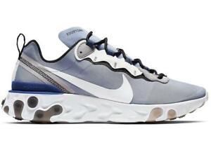 Mens-Nike-React-Element-55-Indigo-Fog-Mystic-Navy-Half-Blue-White-BQ6166-402