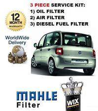 pour Fiat Multipla 1.9 JTD 2/2006> 3 pièces KIT DE SERVICE