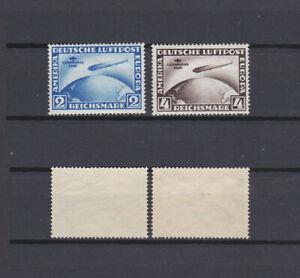 GERMAN REICH 1930 Zeppelin South America Flight Mint * C38-C39 (Mi.438-439)