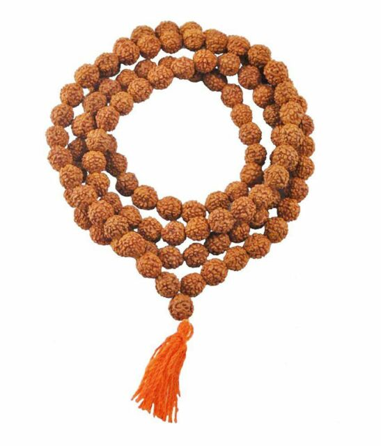 Rudraksha Mala 8mm Beads 108+1 Beads Japa/ Mala 100% Natural