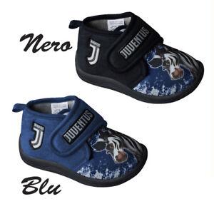 Nuova alta qualità prima clienti Dettagli su JUVENTUS pantofole bambino nuovo logo JJ prodotto uffic.due  colori blu e nero
