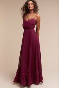 Details about NWT ANTHROPOLOGIE BHLDN Sz 4 BLACK CHERRY DOVE MAXI GOWN DRESS  BY WATTERS  280 4a5dfe314