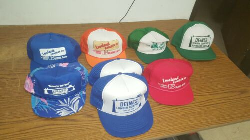 Lot of 8 Vintage  Lumber Trucker Caps Hats - used