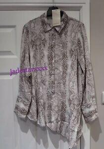 d360865d10fe Image is loading Zara-Animal-Print-Shirt-Asymmetric-Snakeskin-Small-S-