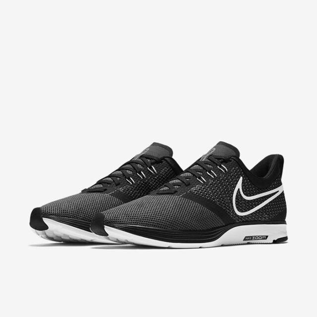 new style 3b240 67808 Men's Nike Zoom Strike Running Shoe Black White Dark-grey AJ0189 001 Size 10