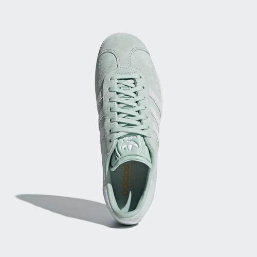 Kvinnor CQ2189 Adidas Gazelle springanande skor Grönt Grönt Grönt vitt blått skor  grossist billig och hög kvalitet