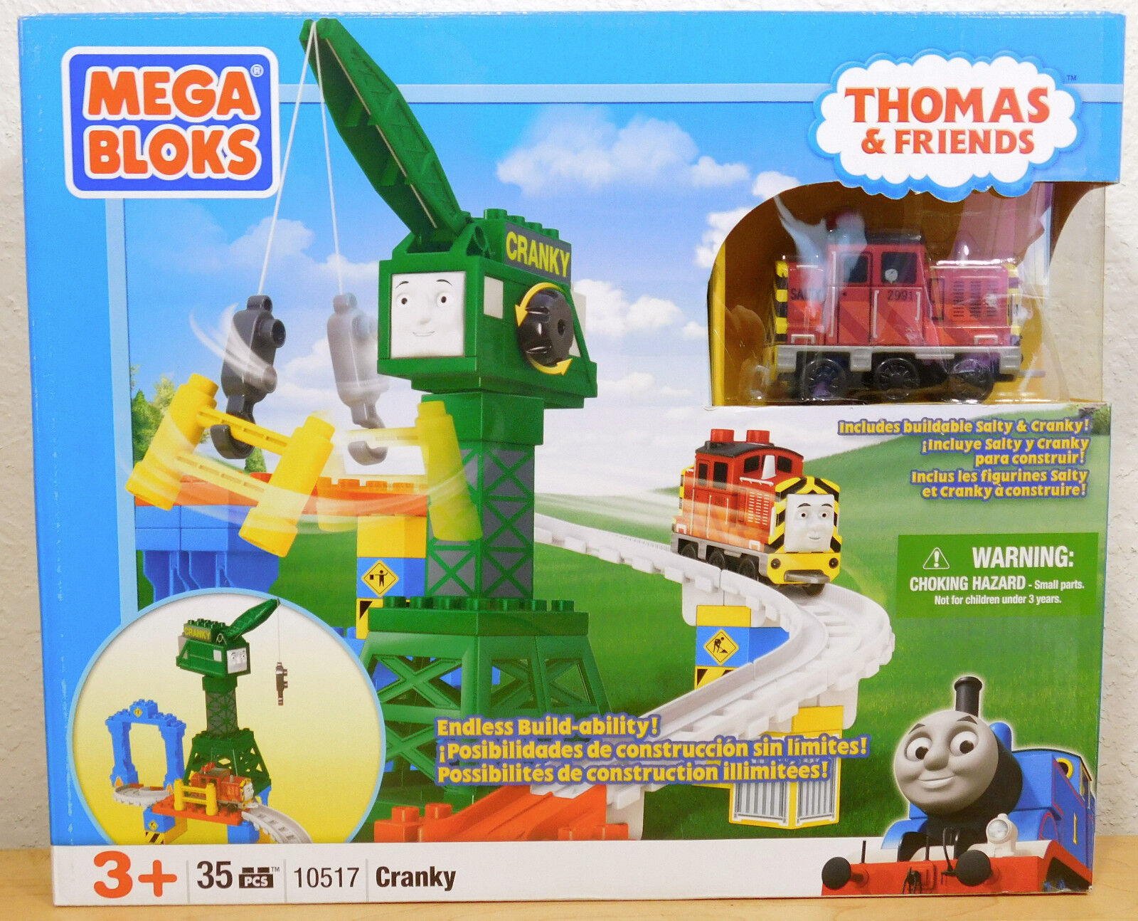 CRANKY with with with SALTY 10517 New Mega Bloks Thomas & Friends NEW RARE 0547a1