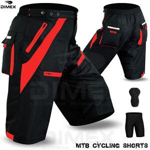 88593edba MTB Cycling Short Off Road Cycle CoolMax Padded Liner Shorts Black ...