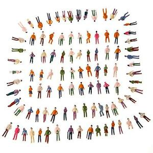 100X-OO-Scale-1-75-Mix-Painted-Model-Train-Street-Passenger-People-Figures-X9X5