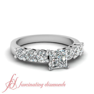 ca735a2be2de92 80 Ct GIA Certified Princess Cut Diamond Solid 14K White Gold ...