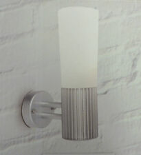 Lights outside Litto Silver Effect Ribbed Wall Light