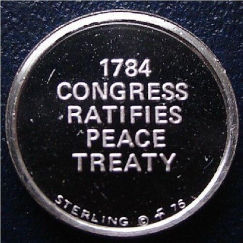 1784 Congress Ratifies Peace Treaty FRANKLIN Mint STERLING SILVER Mini-Ingot