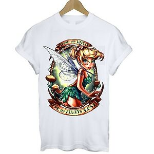 f7187ed1ec4 Tinkerbell Tee Grunge Tattoo Alternative T shirt Size S M L XL UK 6 ...