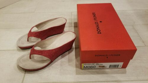 Donald J Pliner Size 6 Women Red Wedge Slippers