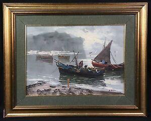Adroit A. Russo (xx) Retour De Pêche Huile Sur Isorel Marine Marina Bateau Régate Voile