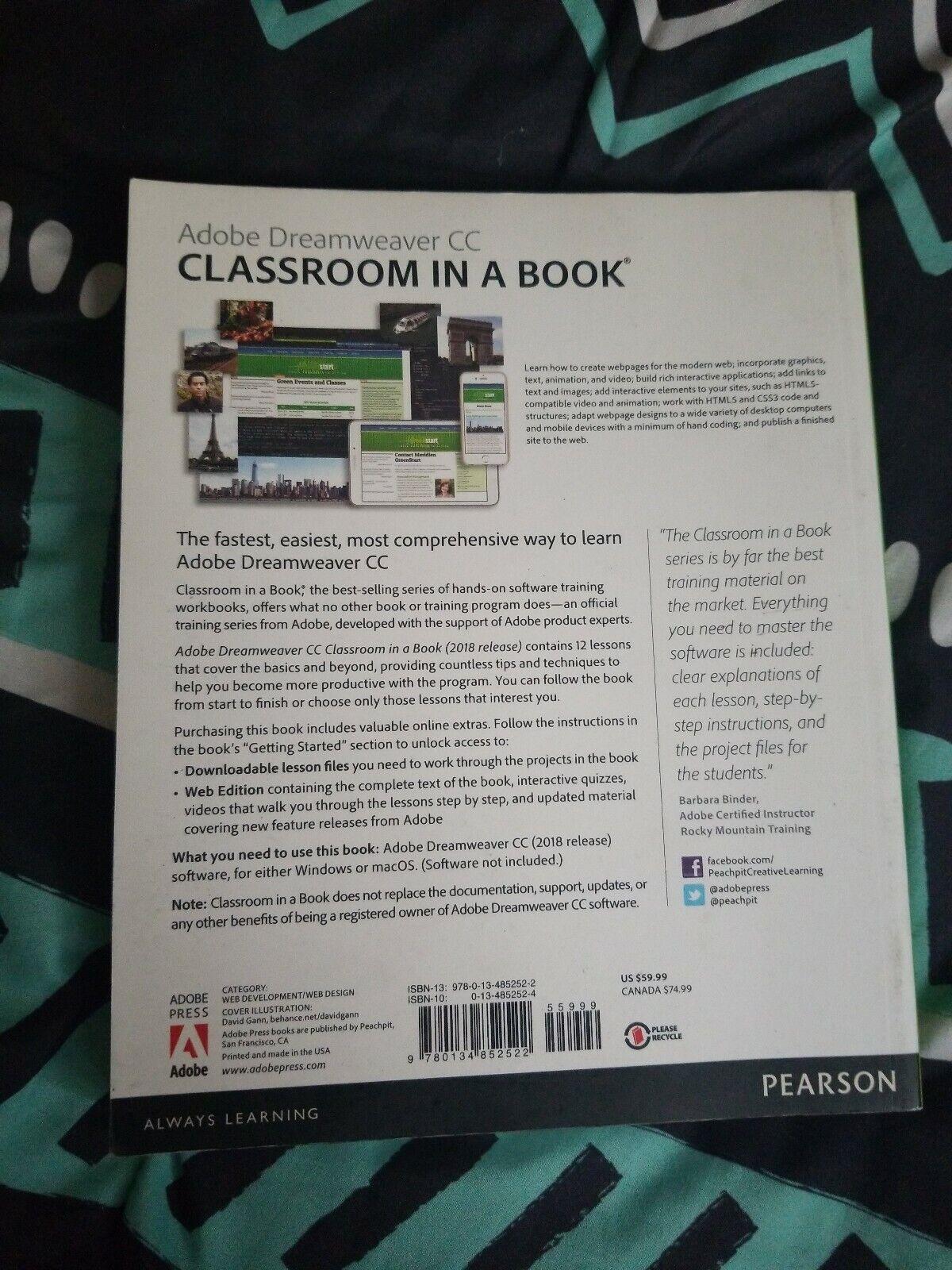 Classroom in a Book: Adobe Dreamweaver CC Classroom in a Book (2018  Release) by Jim Maivald (2018, Paperback)