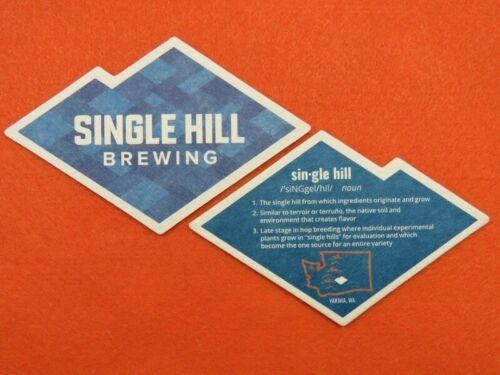 Beer Collectible Coaster ~ SINGLE HILL Brewing ~ Yakima WASHINGTON Hop Breeding