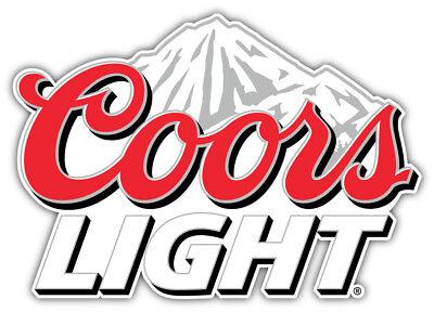 Coors Light Logo Mountain Car Bumper Sticker Decal - 9 ...