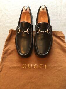 Gucci-Mens-Horsebit-Black-Leather-Shoes-EU-42-UK-8-RRP-540