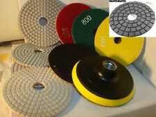 Wet Dry Diamond Polishing Pads 5 Inch 10 Pieces Granite Concrete Sander Glass