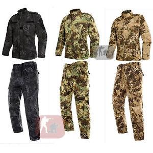 2017-New-Airsoft-Combat-Military-BDU-Tactical-Uniform-Jacket-Pants-Python-Suit