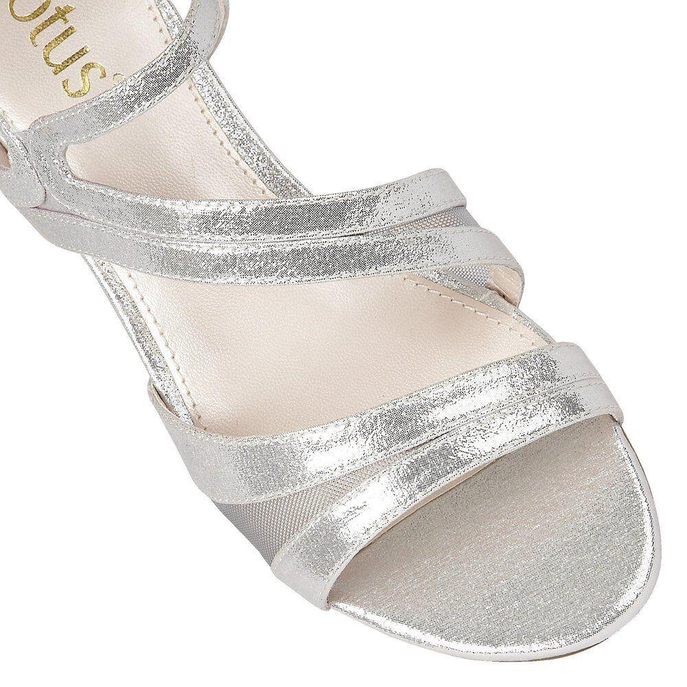 Lotus Desponia Silver Silver Desponia Shimmer Evening Sandales 2f2515