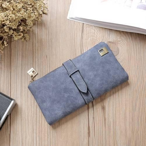 Women Fashion Retro Matte Korean Sand Lady Long Wallet More Card Holder Wallet