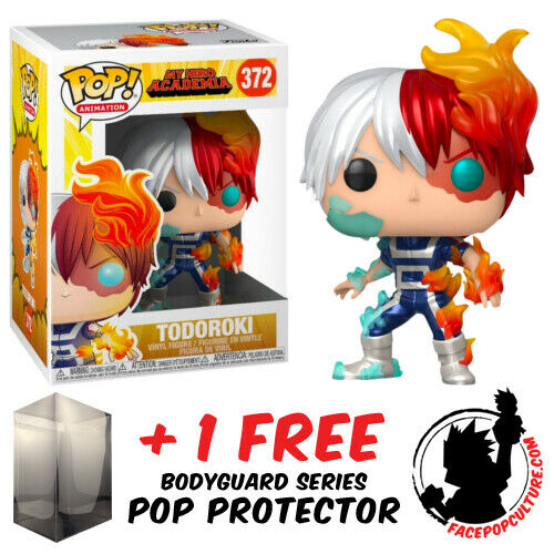 FUNKO POP MY HERO ACADEMIA TODOROKI METALLIC EXCLUSIVE FREE POP PROTECTOR