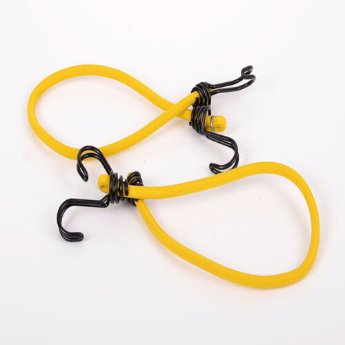 10 PACK OF 8MM X 60CM YELLOW LUGGAGE ELASTICS BUNGEE CORD SHOCK CORD STRAPS