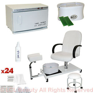 Pedicure chair hot towel warmer sterilizer paraffin wax for Wax chair salon