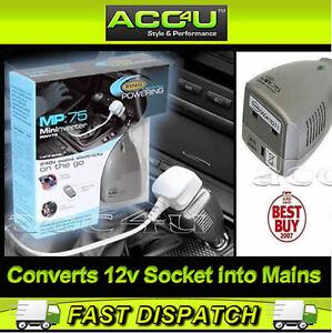 ring mp 75 12v car plug to 240v ac uk home mains socket. Black Bedroom Furniture Sets. Home Design Ideas